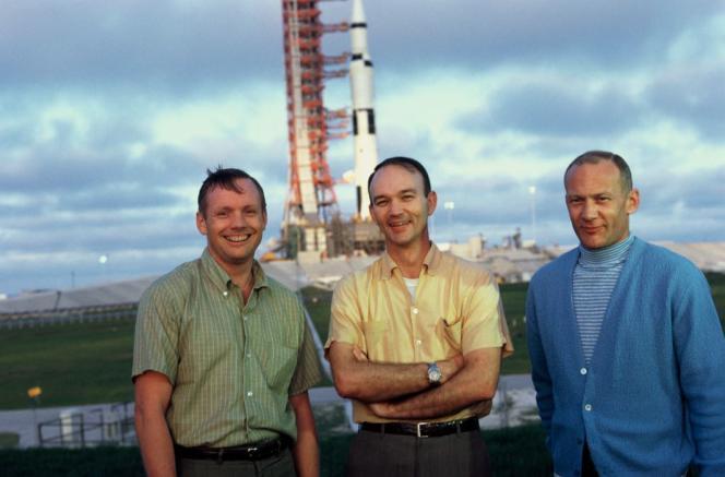 Trois astronautes d'«Apollo : missions vers la Lune», un documentaire réalisé par Tom Jennings.
