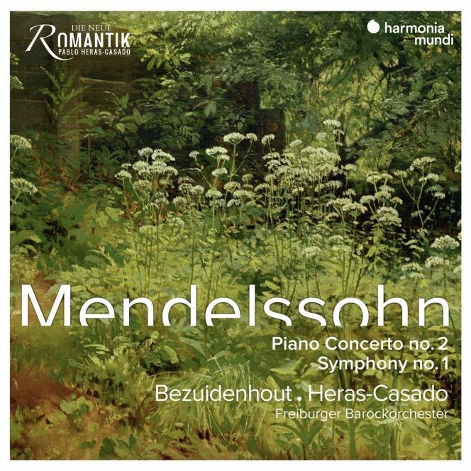 Pochette de l'album« Symphonie n°1. Concerto pour piano n°2. Ouverture de Mélusine», deMendelssohn.