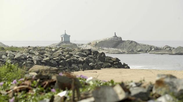 Une plage de Manavalakurichi dans l'Etat de Tamil Nadu.