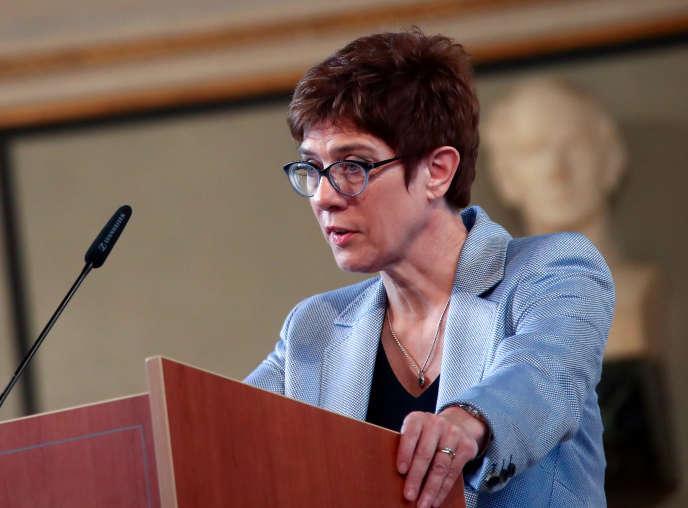 Annegret Kramp-Karrenbauer, la chef de file de l'Unionchrétienne-démocrate (CDU) en Allemagne, à Munich, le 6 juin 2019.