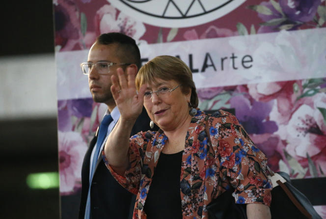 Michelle Bachelet est arrivée au Venezuela le 19 juin pour une visite de trois jours.