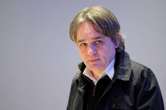 Riss, le rédacteur en chef de «Charlie Hebdo», à Paris, le 20 février.