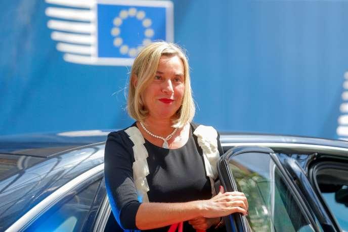 La haute représentante Federica Mogherini, le 20 juin à Bruxelles.