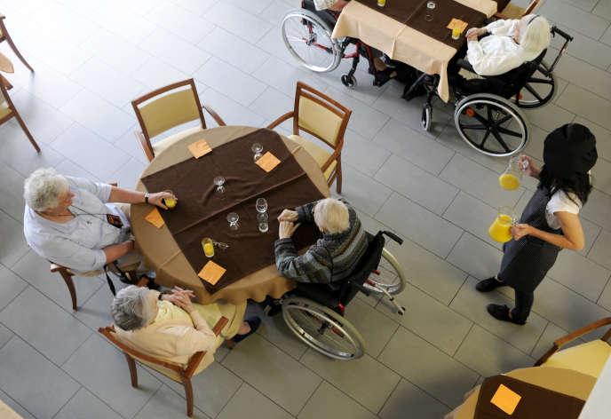 Un établissements d'hébergement pour personnes âgées dépendantes (EHPAD) sitié à Nantes.