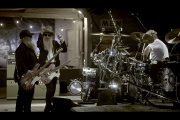ZZ Top, de gauche à droite : Dusty Hill, Billy F. Gibbons et Frank Beard.