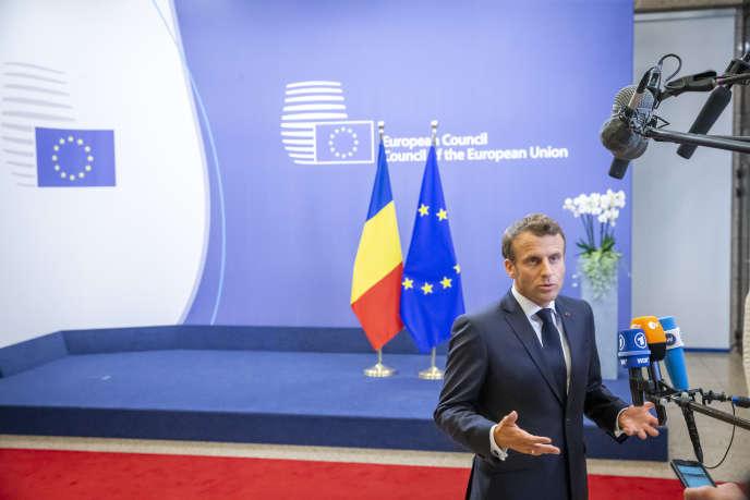 Le président français Emmanuel Macron, à Bruxelles, le 20 juin.