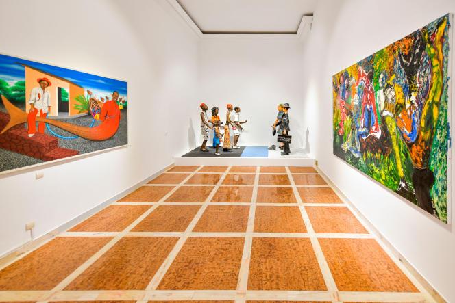L'exposition « Prête-moi ton rêve » à laquelle ont participé 28 artistes africains, à Casablanca, au Maroc, en juin 2019.
