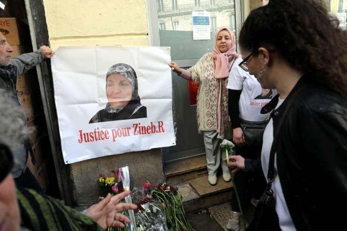 Marche en hommage à Zineb Redouane, le 2 mars 2019.
