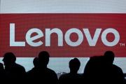 Le logo de Lenovo, à Hongkong, en mai 2015.