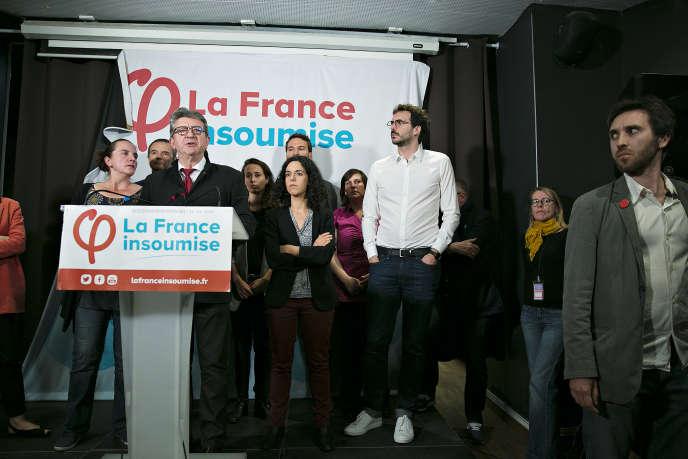 Jean-Luc Mélenchon, chef de file de La France insoumise à Paris le 26 mai.