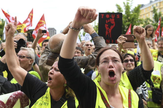 Manifestation des« gilets jaunes» le 22 juin à Belfort.