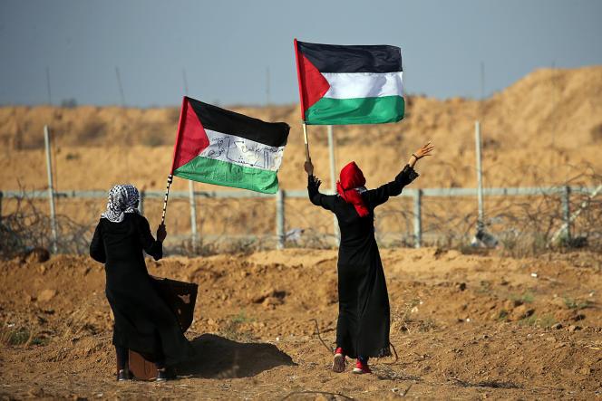 Manifestation de Palestiniens le 21 juin dans la bande de Gaza.