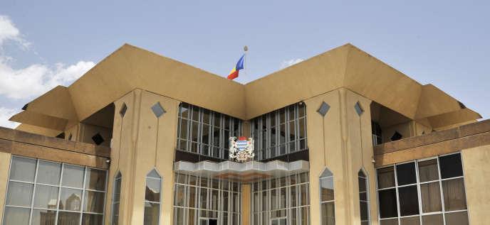 Palais présidentiel dans la capitale tchadienne Ndjamena, sur lequel a marché Mahamat Nouri en 2008. AFP PHOTO / ISSOUF SANOGO (Photo by ISSOUF SANOGO / AFP)