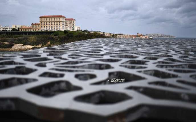 C'est au Palais du Pharo à Marseille que se déroulera le Sommet des deux Rives ce lundi. (Photo by ANNE-CHRISTINE POUJOULAT / AFP)