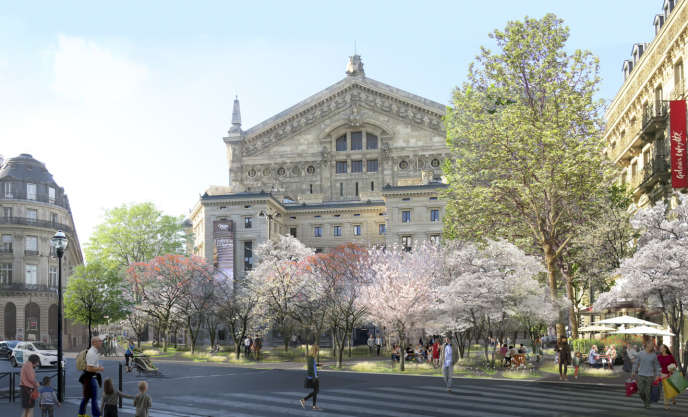 Les abords de l'Opéra Garnier seront débitumés