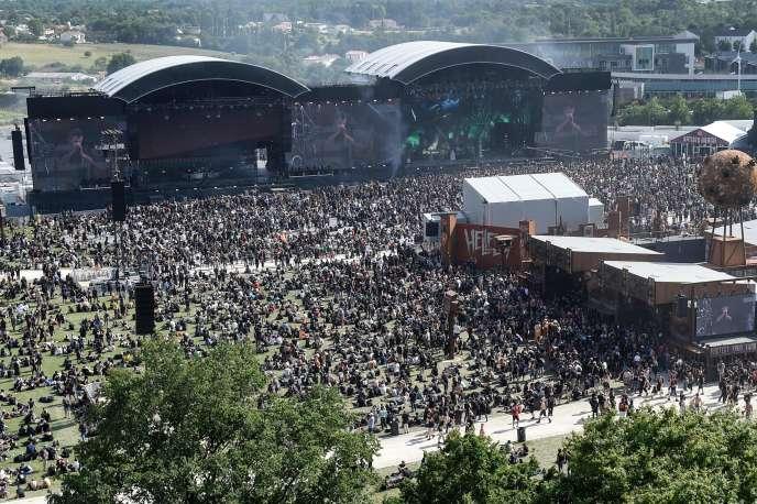 Vue de la 15e édition du festival Hellfest, le 21 juin, à Clisson (Loire-Atlantique).