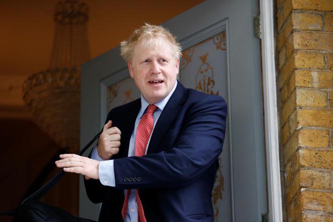 Boris Johnson quitte son domicile de Londres le 21 juin.