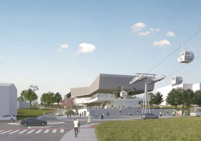Le projet du premier téléphérique urbain francilien, baptisé Câble A par Ile-de-France Mobilités, devrait relier les villes de Villeneuve-Saint-Georges à Créteil, dans le Val-de-Marne.