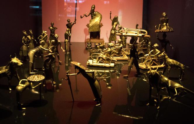 Musée du Quai Branly, les trésors des rois du Dahomey, le 28 juin 2018.