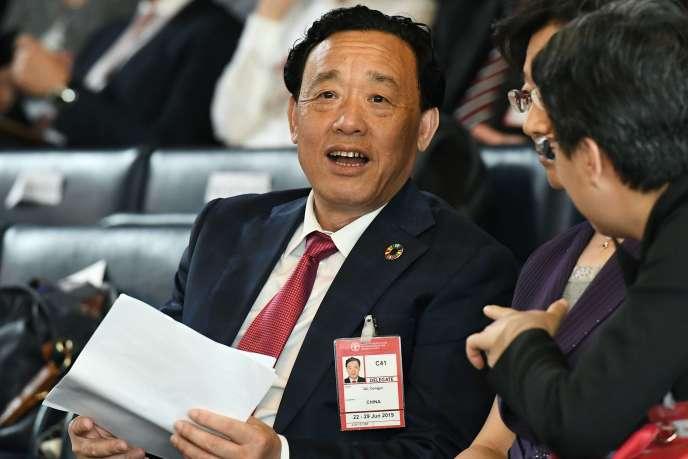 Le nouveau directeur général de la FAO, Qu Dongyu, au siège de l'organisation, à Rome, le 23 juin.