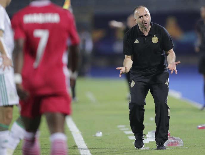 Le sélectionneur de l'Algérie,Djamel Belmadi, lors du match entre son équipe et le Kenya en Coupe d'Afrique des nations le 23 juin.