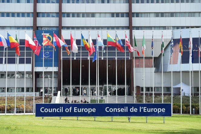 Le siège du Conseil de l'Europe, à Strasbourg, le 5 mai.