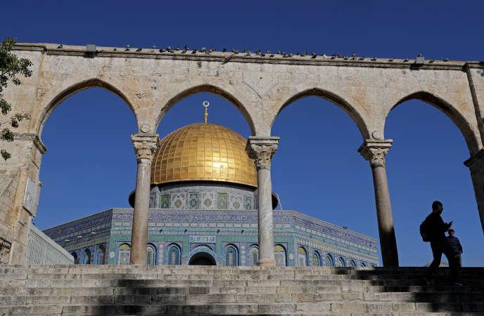 La mosquée Al-Aqsa rénovée par le Waqf, la fondation pieuse jordanienne qui gère l'esplanade, en janvier 2018.