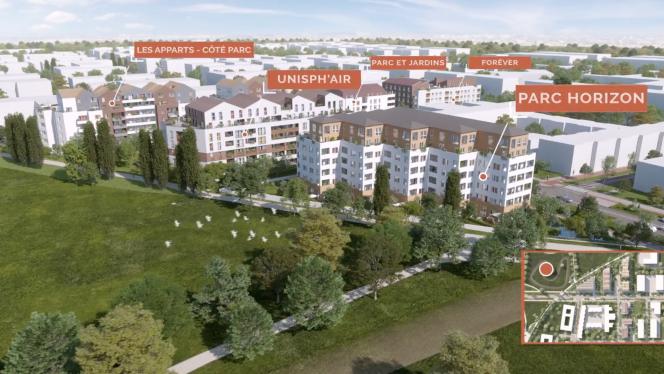 Capture d'écran de la vidéo de promotion du projet dans le quartier de Maison-Blanche à Neuilly-sur-Marne, en Seine-Saint-Denis.
