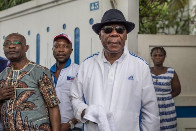 L'ancien président béninois Boni Yayi à Cadjehoun, un quartier de Cotonou, le 19avril2019.