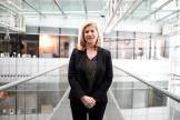Dana Hastier, ancienne directrice exécutive de France 3, le 4 décembre 2017 au siège de France Télévisions à Paris.