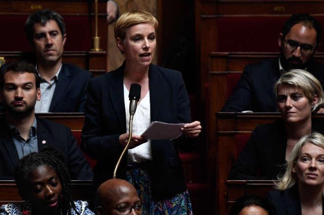 Clémentine Autain, députée LFI, à l'Assemblée, en mai.