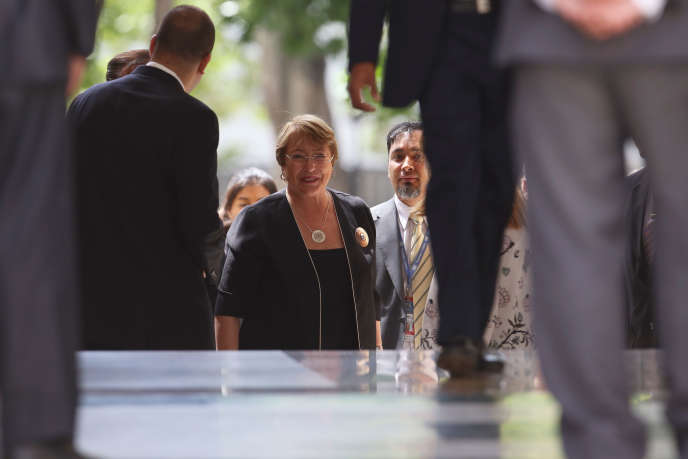 Michelle Bachelet a rencontré les membres de l'assemblée constituante à Caracas, le 21 juin.