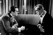 Bela Lugosi et Boris Karloff dans« Le Chat noir», film américain d'Edgar George Ulmer (1934).