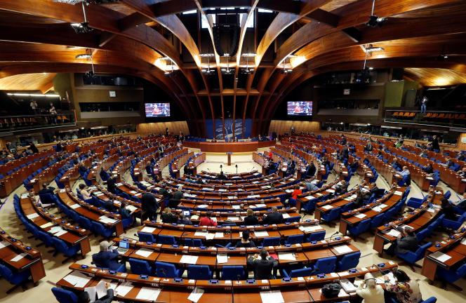 L'Assemblée parlementaire du Conseil de l'Europe, à Strasbourg, en 2017.
