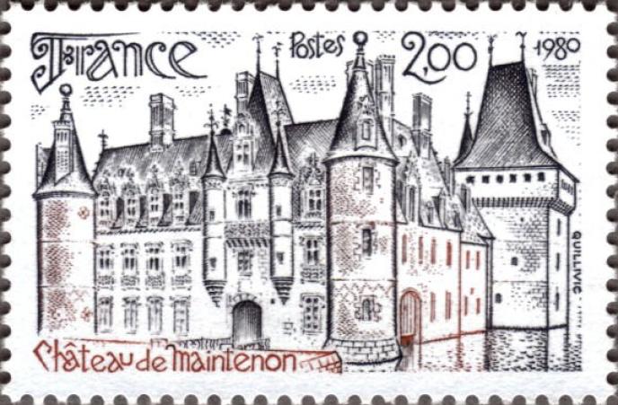 Le château de Maintenon, paru en 1980.