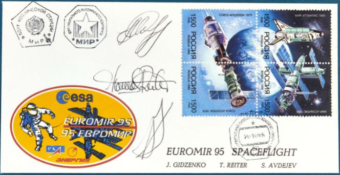 Enveloppe passée par la station MIR en 1995 adjugée 200 euros chez Arcurial.