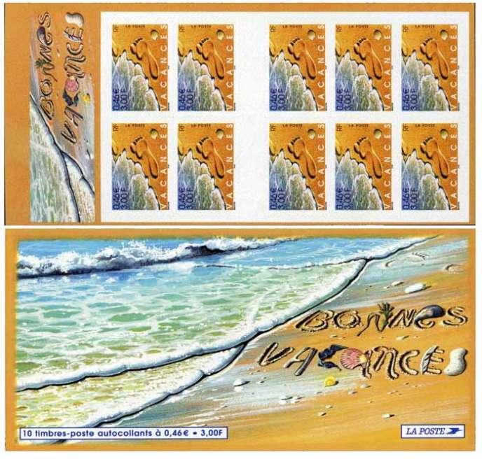 Carnet de timbres de vacances paru en 2001, sous la signature de Christian Broutin. Tirage: 2109534 exemplaires.