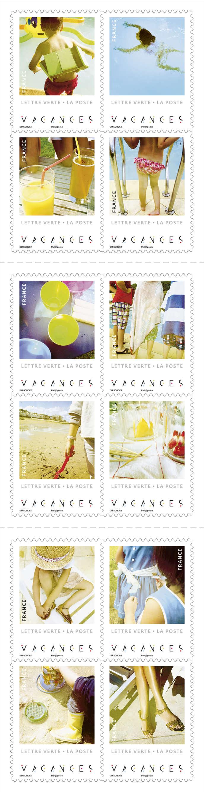 Le carnet de timbres créés par Jacques du Sordet en vente générale le 1er juillet.