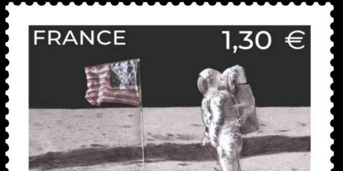 Un timbre pour fêter le premier pas de l'homme sur la Lune