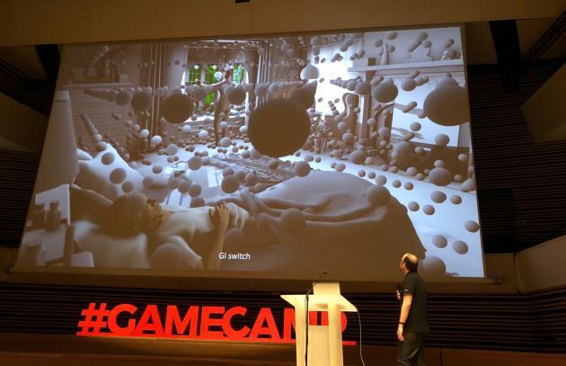 La luminosité et sa réverbération est calculée avec une multitude d'orbes virtuelles, qui n'apparaissent jamais à l'écran pour le joueur.