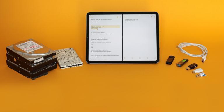 ipad os ipadOS ios tablette clé usb mémoire fenêtres Apple