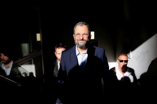 L'ex-premier ministre Ehoud Barak, le 26 juin à Tel-Aviv.
