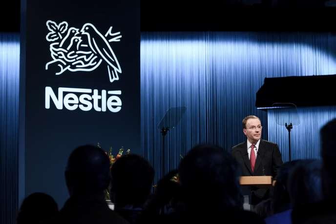 Mark Schneider, patron de Nestlé, le 12 avril 2018 à Lausanne.