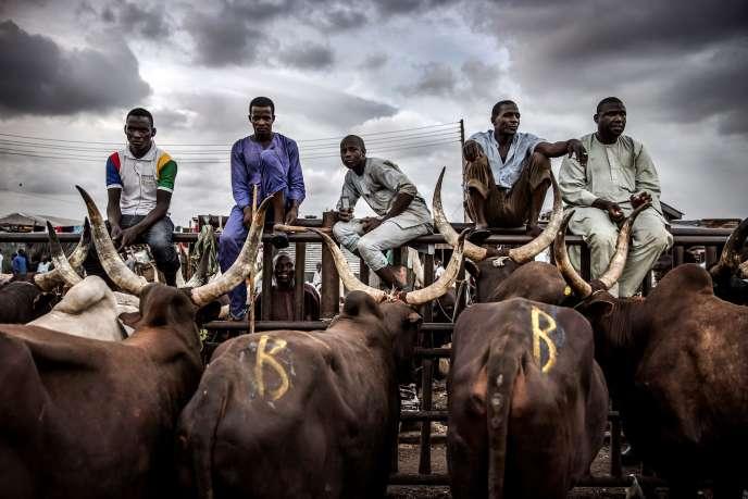Un marché de bétail à Lagos, au Nigeria, le 10avril 2019.