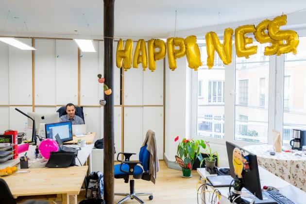Dans les bureaux de la start-up «La Ruche qui dit oui!», à Paris, en octobre 2017.