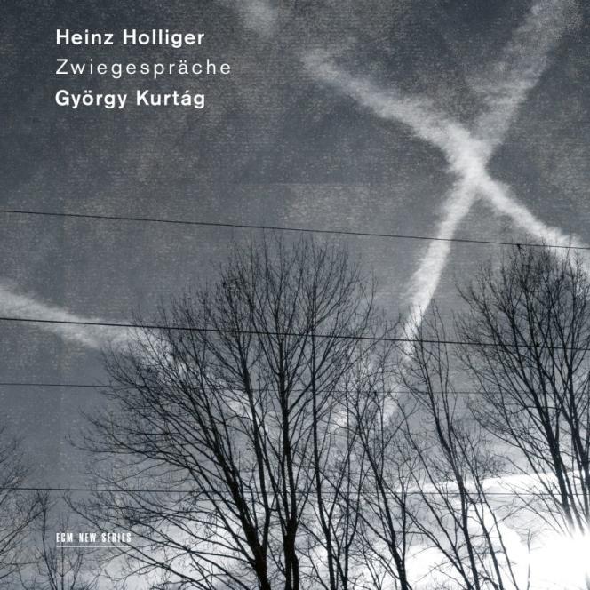 Pochette de l'album« Zwiegespräche », œuvres deHeinz Holliger et György Kurtag.