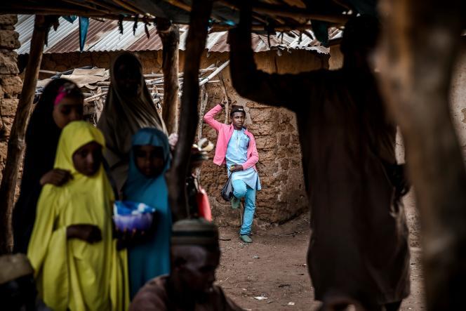 Sur le marché de la réserve pastorale de Kachia, dans l'Etat de Kaduna, le 17avril 2019.