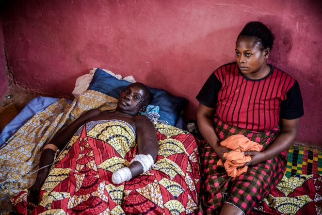Monica Gabriel, une agricultrice de l'ethnie adara, a été victime d'une attaque attribuée à «des Peuls» et qui a fait 27morts dans le village d'Ang War Aku, le 8avril 2019.