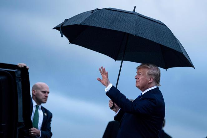 Le président américain, Donald Trump, lors de son arrivée au sommet d'Osaka au Japon, le 27 juin.