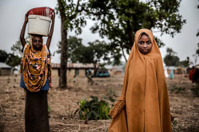 Des jeunes filles peules de la réserve pastorale de Kachia, le 18avril 2019.